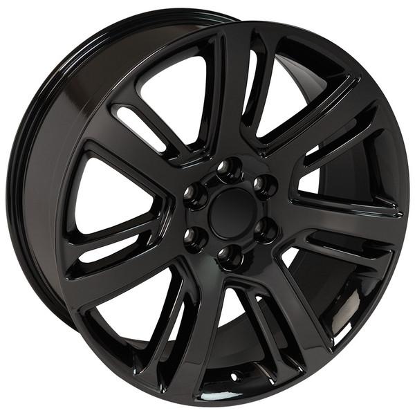 """CA88 22"""" Black Chrome Rim Set Fits Cadillac Escalade"""