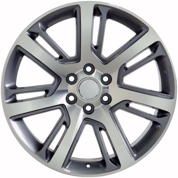 Cadillac Escalade Style & Tires Gunmetal Mach'd Face 22x9 SET