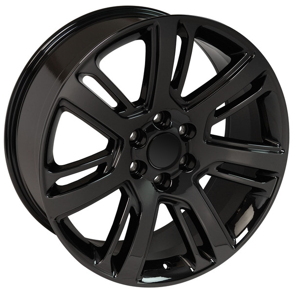 Ca88 22 Inch Pvd Black Chrome Rims Fit Cadillac Escalade