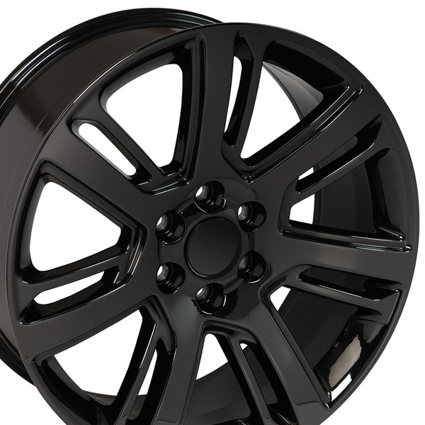 "CA88 22"" Black Chrome Wheels & Goodyear Tires For Cadillac"