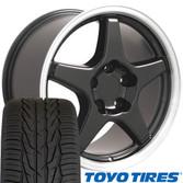 ZR1 style rim and tire set Camaro