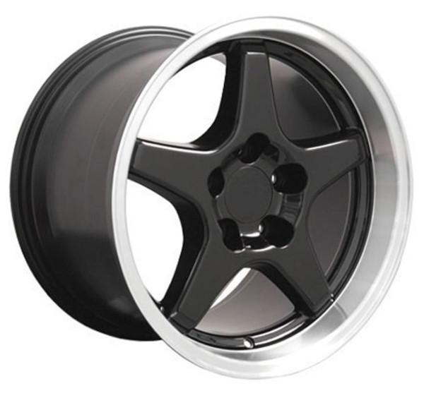 Black wheel and tire set Camaro