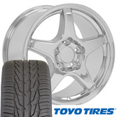 ZR1 style wheel Toyo tire set Chevy