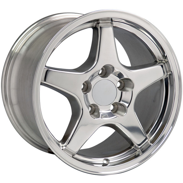Polished wheel tire set for Chevy