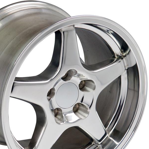 Polished ZR1 style wheel tire set