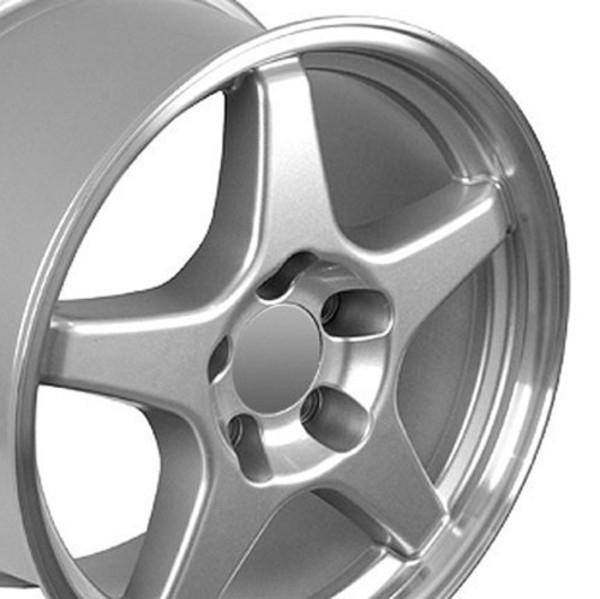 17x9.5 ZR1 style wheel tire set