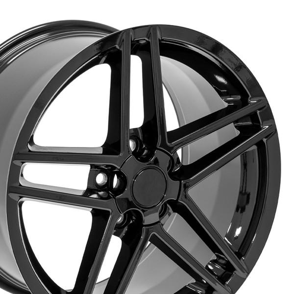 18 Wheel Fits Chevy Corvette C6 Z06 Cv07a 18x95 Gloss Black