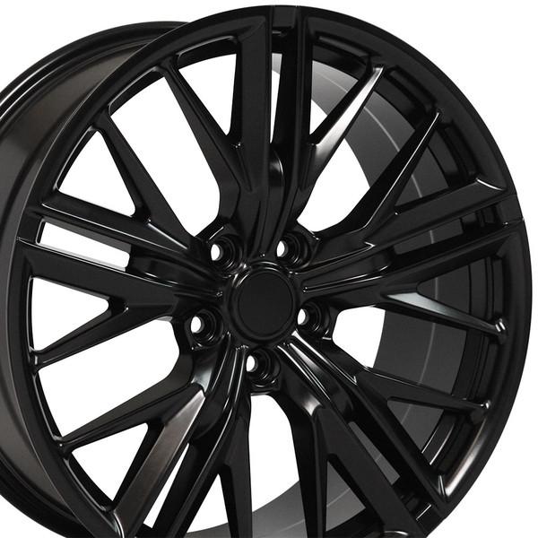cv25 20 inch satin black replica wheel rim set for camaro. Black Bedroom Furniture Sets. Home Design Ideas
