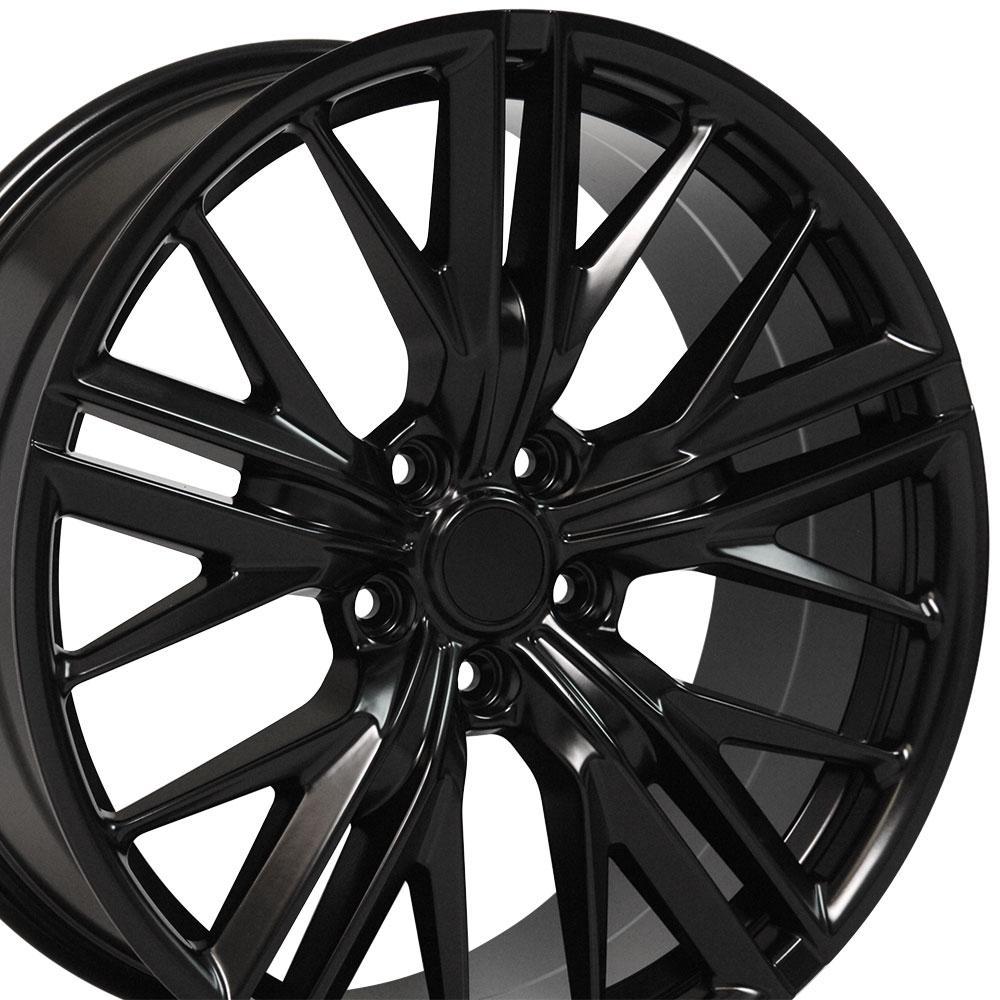cv25 20 inch satin black replica wheel