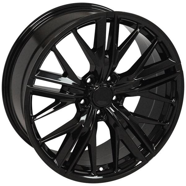 Cv25 20 Inch Black Replica Wheel Rim For Camaro