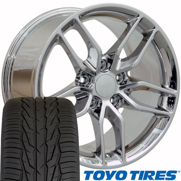 17x9.5 Set CV27 & tires Corvette