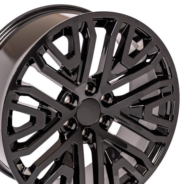 Black wheels for 2019 Chevy Silverado