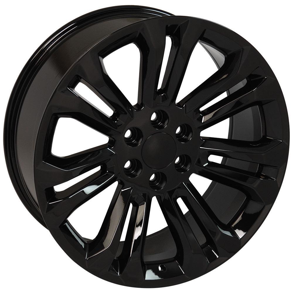 Cv43 22 Inch Black Rim Set Fits Chevrolet Silverado