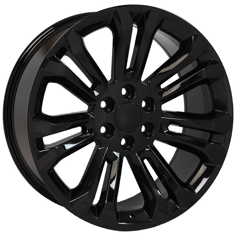cv43 22 inch black rims and bridgestone tires for chevrolet silverado Chevy Truck Tires Off upc 9508342