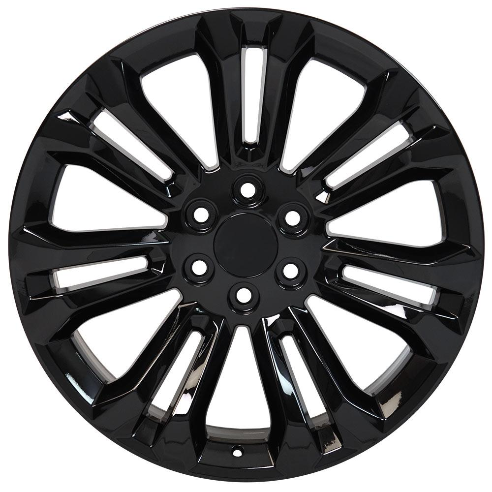 22 Wheel Fits Chevy Silverado Cv43 22x9 Gloss Black Hollander 5666