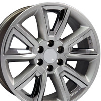 20 inch hyper black rims for Chevy Tahoe CV73-2p