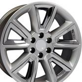 20 inch hyper black rims for Chevy Tahoe CV73-2p