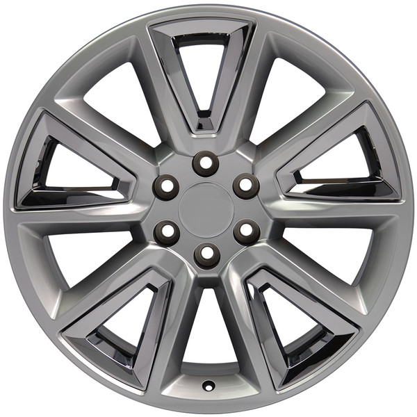 20 inch hyper black rims for Chevy Tahoe CV73-1