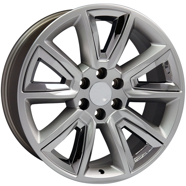 20 inch hyper black rims for Chevy Tahoe CV73-2