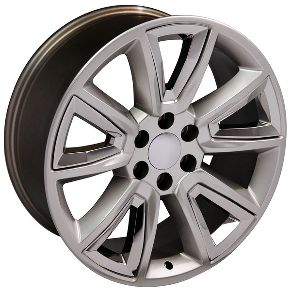 20 inch hyper black rims for Chevy Tahoe CV73-3