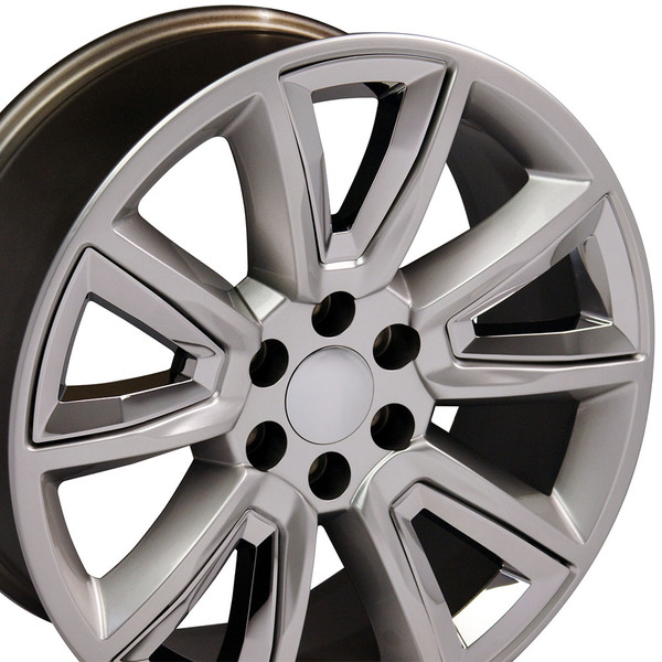 20 inch hyper black rims for Chevy Tahoe CV73-3p
