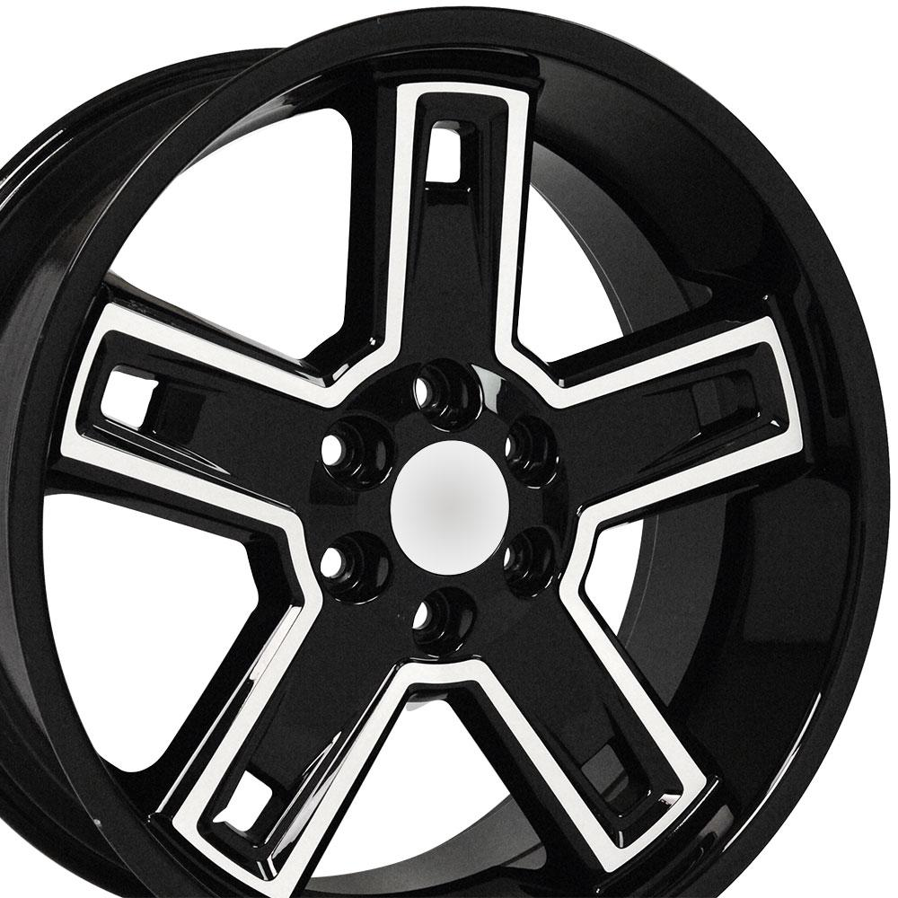 22 Wheel Fits Chevy Silverado Ck160 Cv74 22x9 5 Black Machd