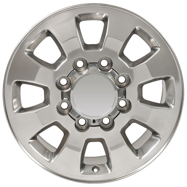 8 Lug Sierra style wheels polished for GMC Savana