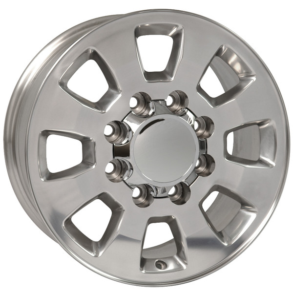 8 Lug Sierra style wheels polished for GMC Yukon