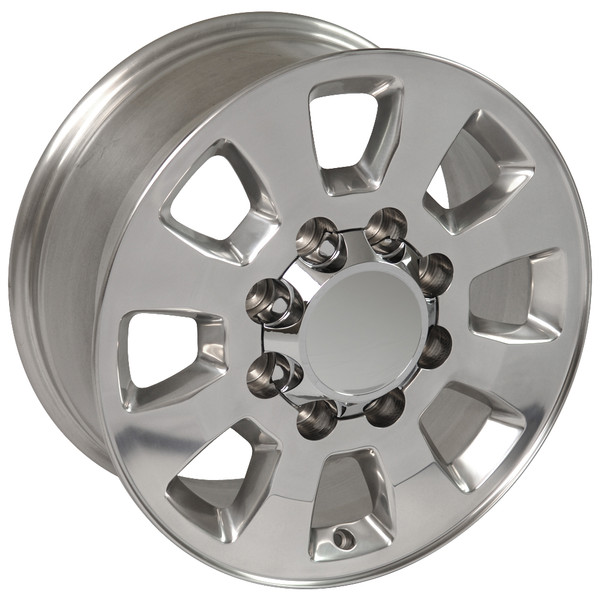 Sierra style wheels polished for Chevy Silverado