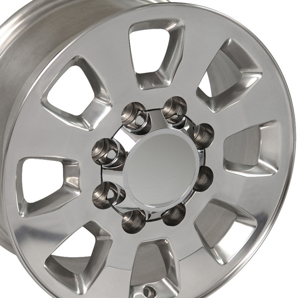 Sierra style wheels polished for GMC Sierra
