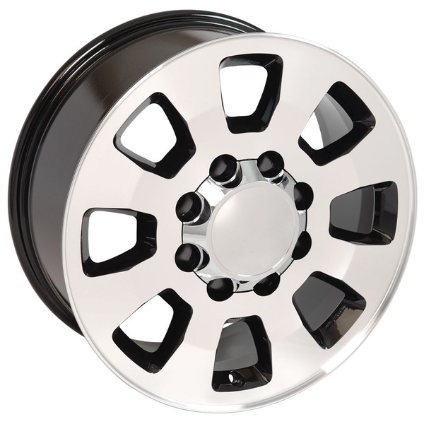 8 Lug Sierra style wheels Machined Black for Sierra