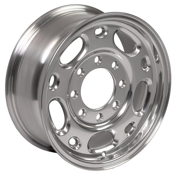 Polished 16x6.5 rim set for Chevy