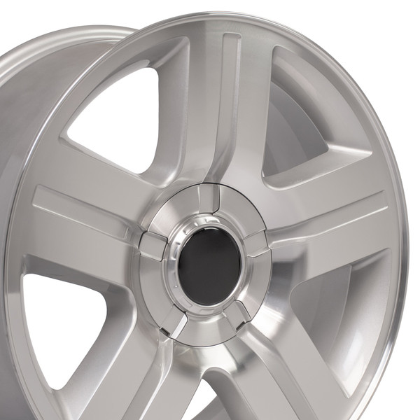 22 Inch Rims For Texas Cv84 22x9 Silver Machined Chevy Truck Wheel Set