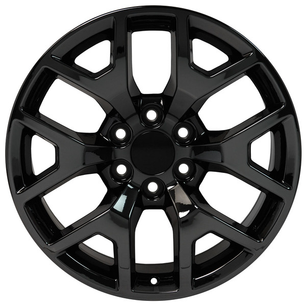 Cv92 20 Inch Pvd Black Chrome Rims Fit Gmc Sierra