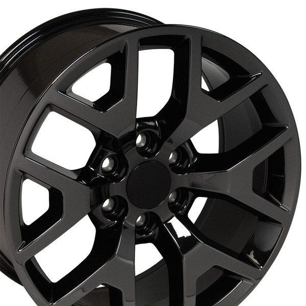 Cv92 22 Inch Pvd Black Chrome Rims Fit Gmc Sierra