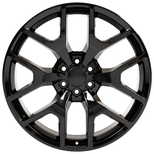 "24"" Honeycomb Rim Black Chrome 5656"