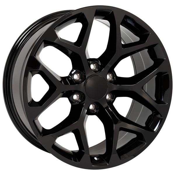 Snowflake Rims Gloss Black 22 inch
