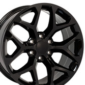 Gloss Black Snowflake Wheels