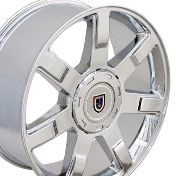 "24"" Wheel For Cadillac Escalade CA80 24x10 Chrome Cadillac Rim"