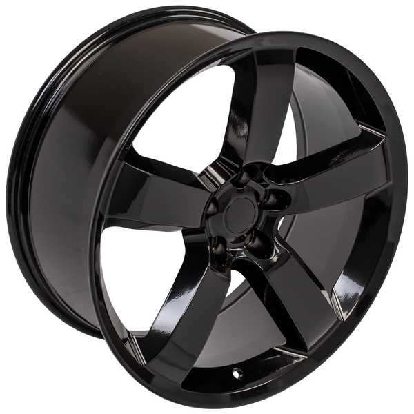 Dodge Charger SRT Style Replica Wheels Black 40x40 SET Amazing Dodge Charger Bolt Pattern