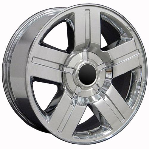 20 Wheel Fits Chevy Silverado Texas Cv84 20x8 5 Chrome Hollander 5291