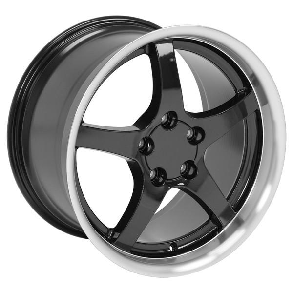 Chevrolet Corvette C5 Wheels Black 18x10 5 18x9 5 Set