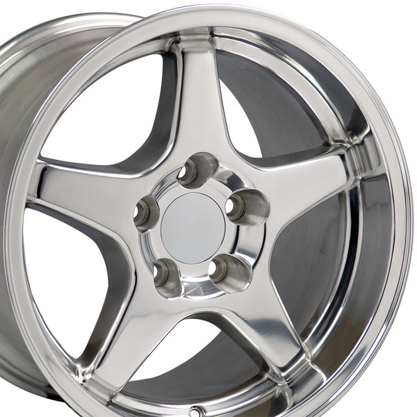 17 Fits Chevrolet Corvette Zr1 Wheels Polished 17x11 17x9 5 Set