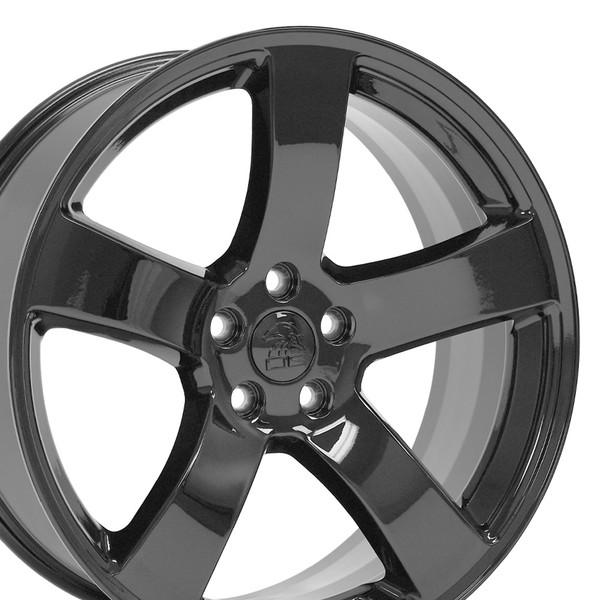 dg12 20 inch black rim set for dodge charger challenger. Black Bedroom Furniture Sets. Home Design Ideas