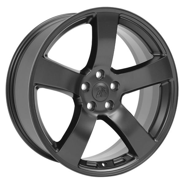 Satin Black Rims Fit Dodge Charger 20x8 SET
