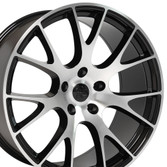 Machined Black Hellcat wheel 20x9