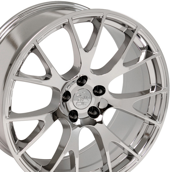 22-inch Chrome Rims fit Dodge Charger-Challenger (Hellcat style) DG15-3p