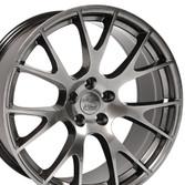 22-inch Hyper Black Rims fit Dodge Charger-Challenger (Hellcat style) DG15-2p