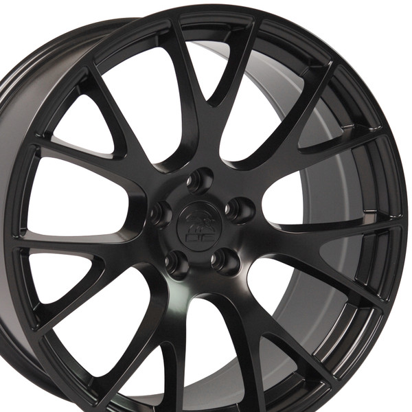 22-inch Satin Black Rims fit Dodge Charger-Challenger (Hellcat style) DG15-2p