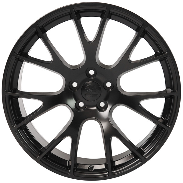 22-inch Satin Black Rims fit Dodge Charger-Challenger (Hellcat style) DG15-1